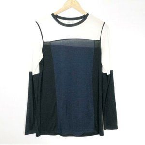 SOLDVince Colorblock Long Sleeve Tee Top Blk White